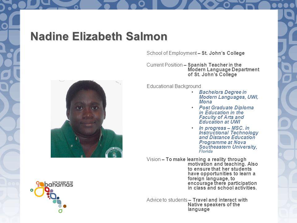 Nadine Elizabeth Salmon