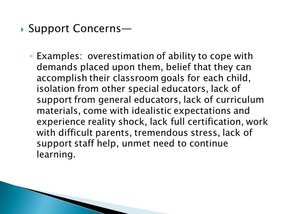 Support Concerns—