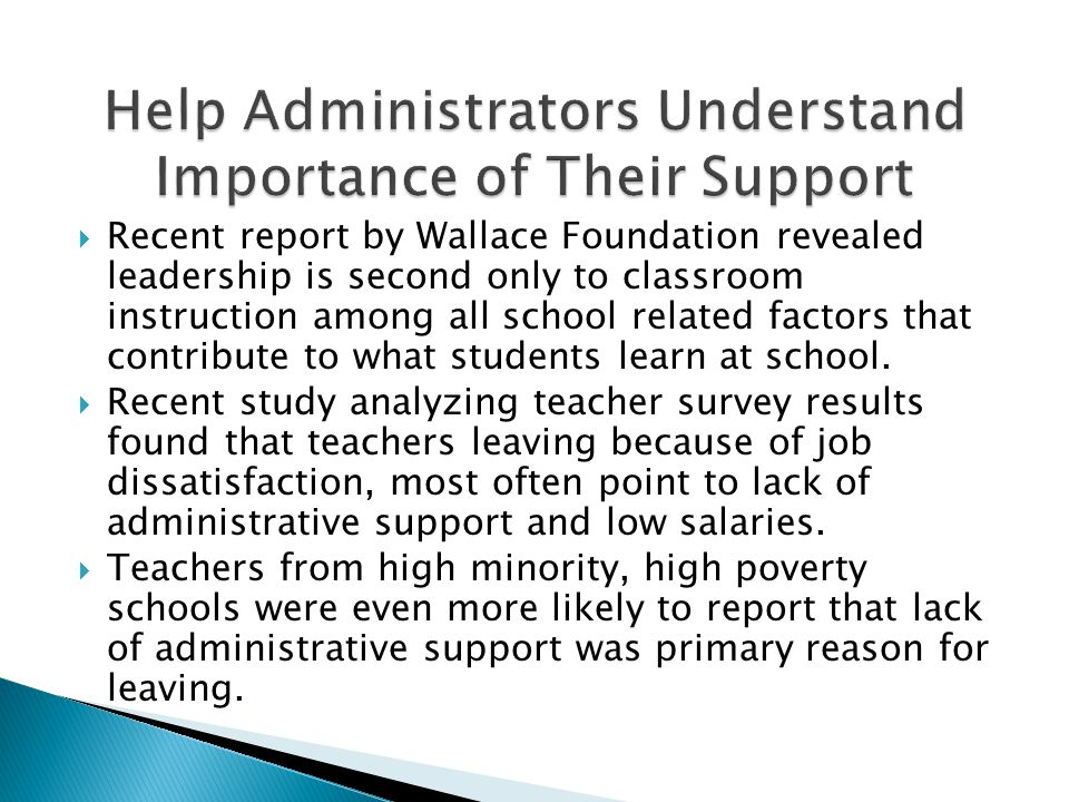 Help Administrators Understand Importance of Their Support