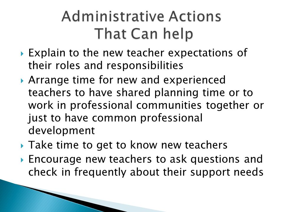 Administrative Actions That Can help