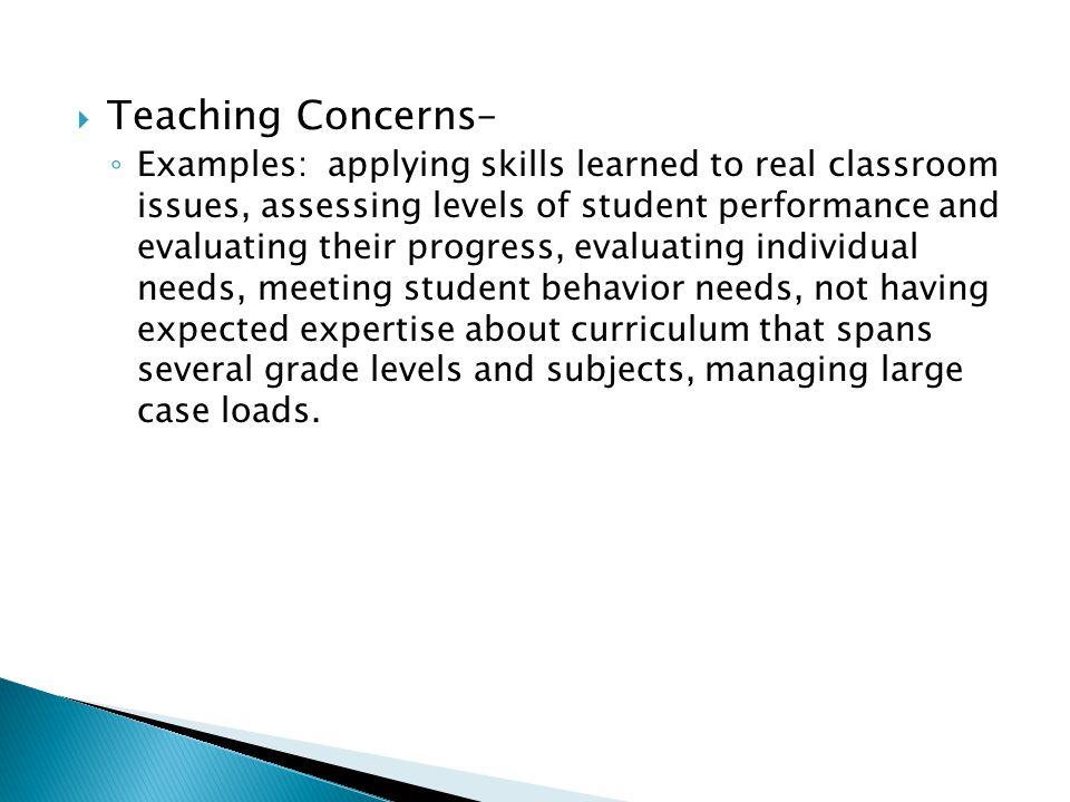 Teaching Concerns–