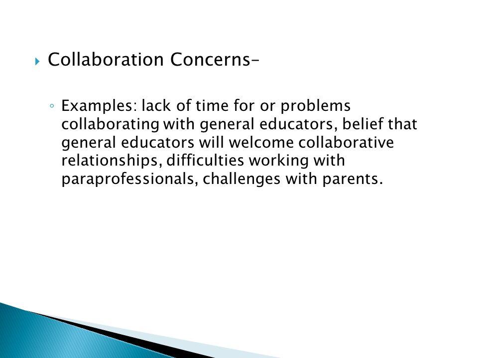 Collaboration Concerns–