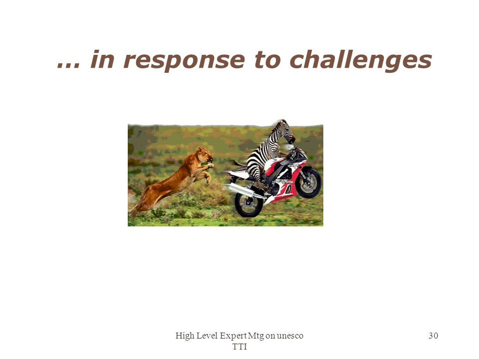 … in response to challenges