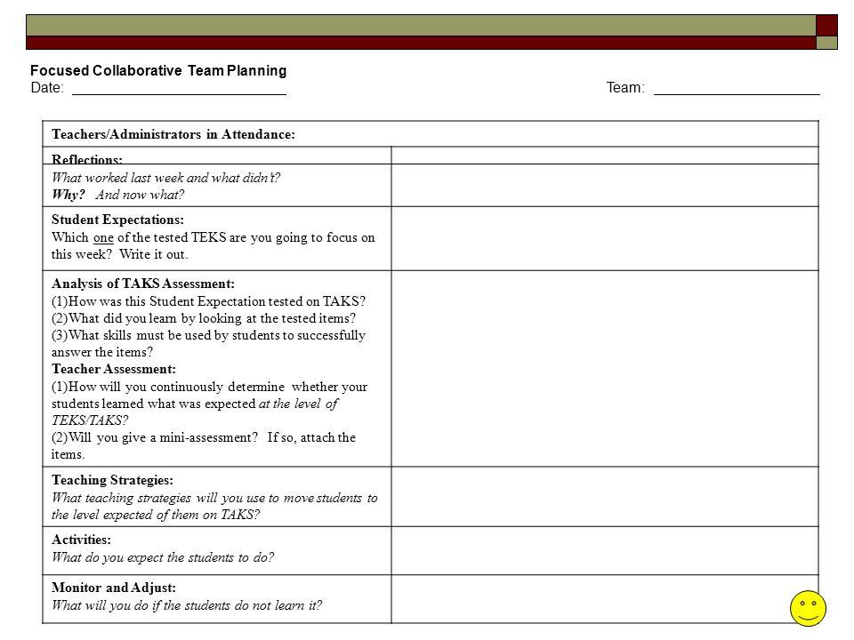Focused Collaborative Team Planning
