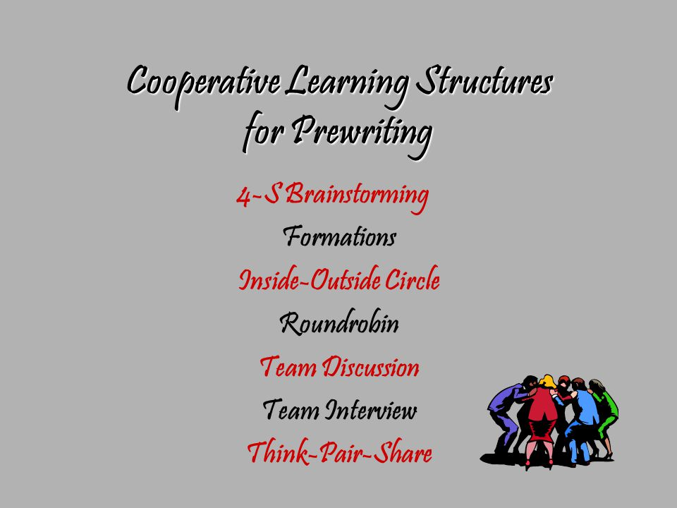 Cooperative Learning Structures for Prewriting