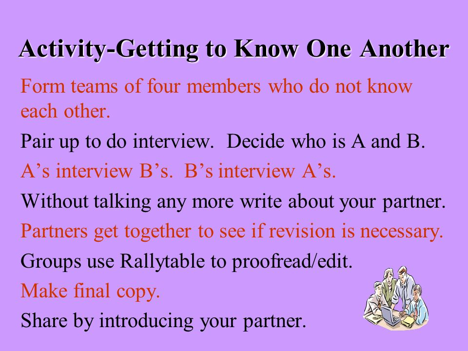 Activity-Getting to Know One Another
