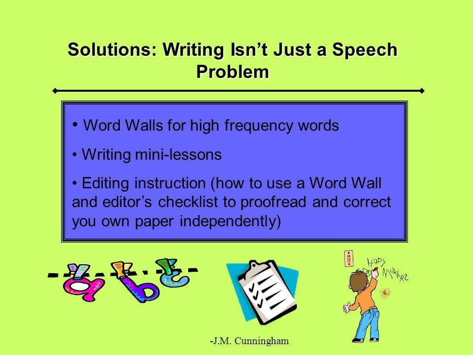 Solutions: Writing Isn't Just a Speech Problem