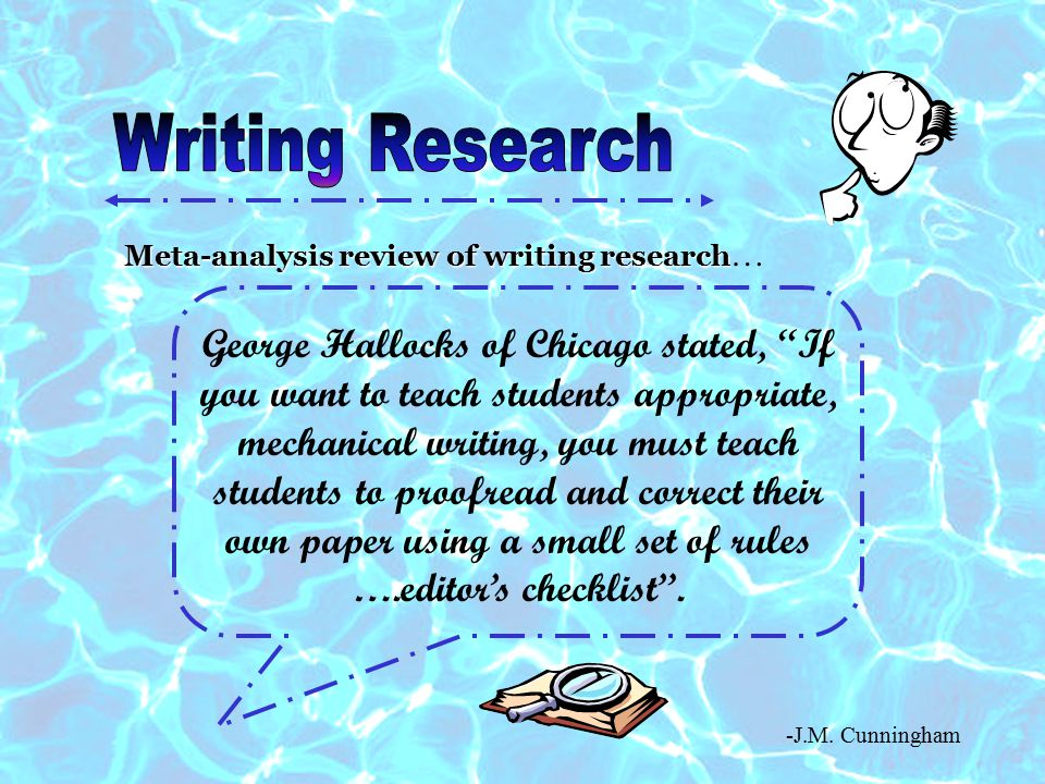 Writing Research Meta-analysis review of writing research…