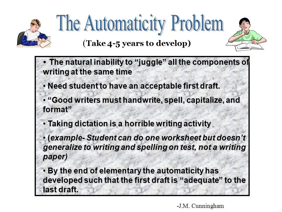 The Automaticity Problem