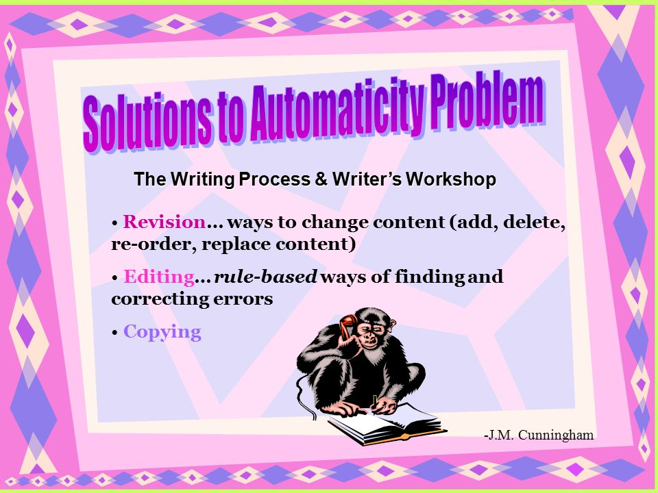 Solutions to Automaticity Problem