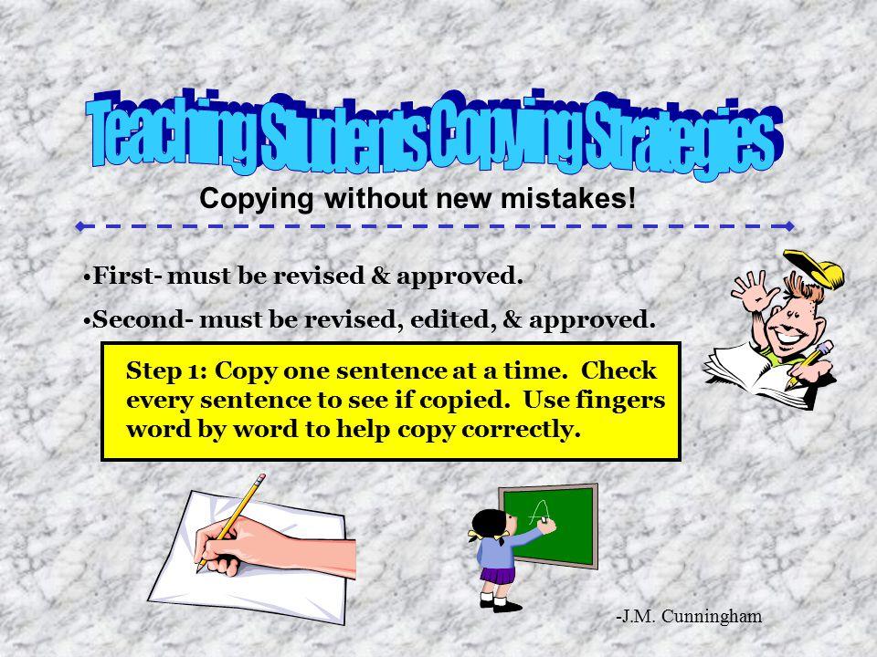 Teaching Students Copying Strategies