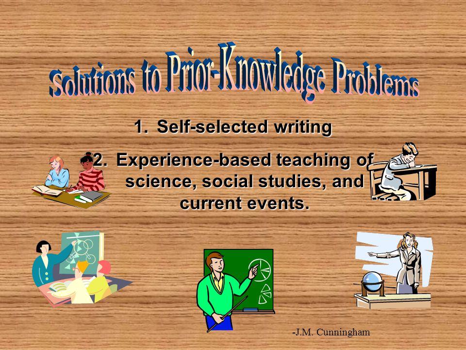 Self-selected writing
