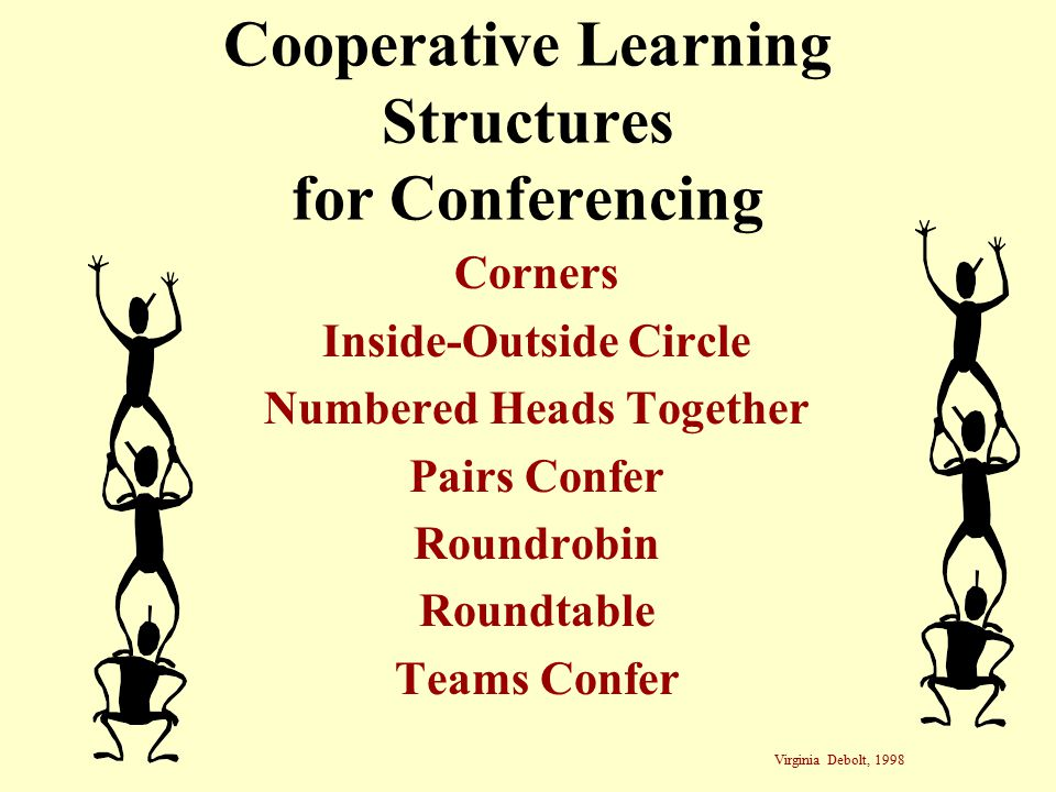 Cooperative Learning Structures for Conferencing