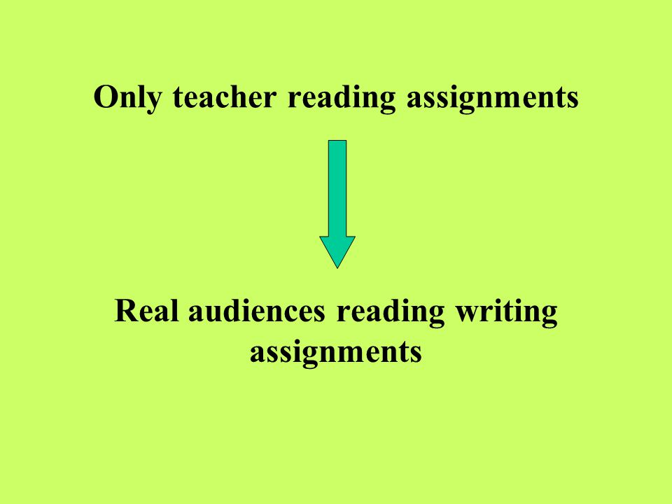 Only teacher reading assignments