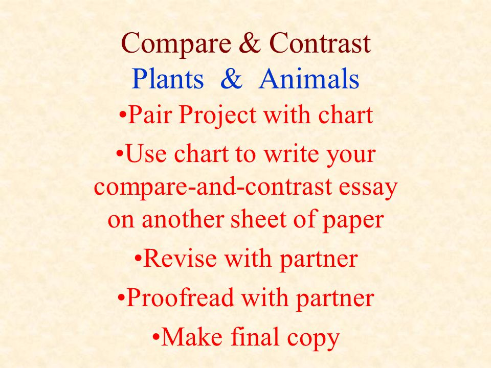 Compare & Contrast Plants & Animals