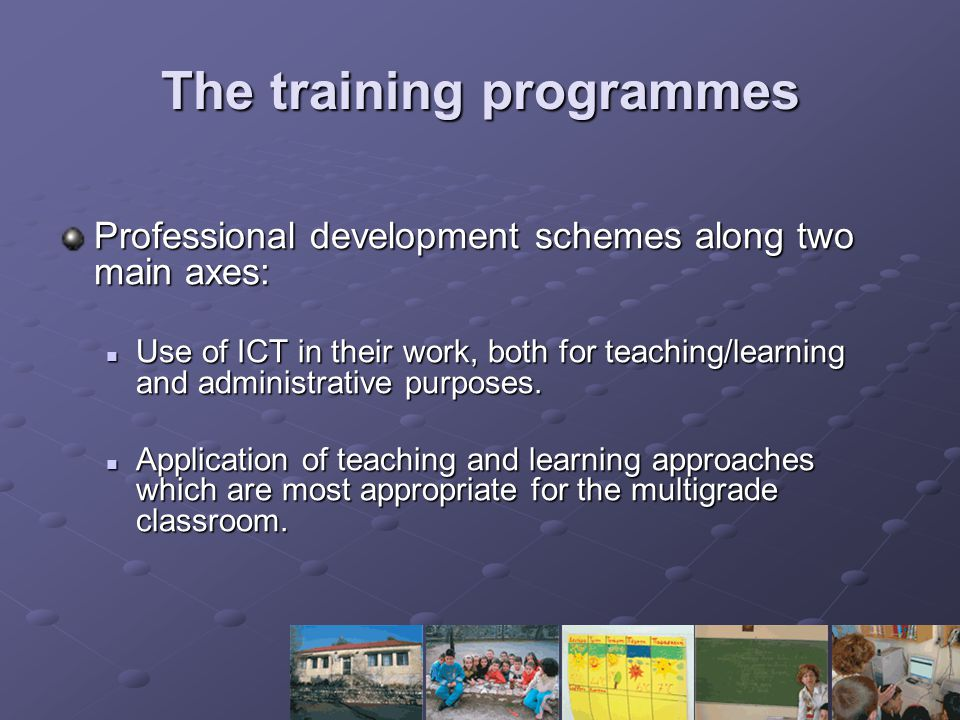 The training programmes