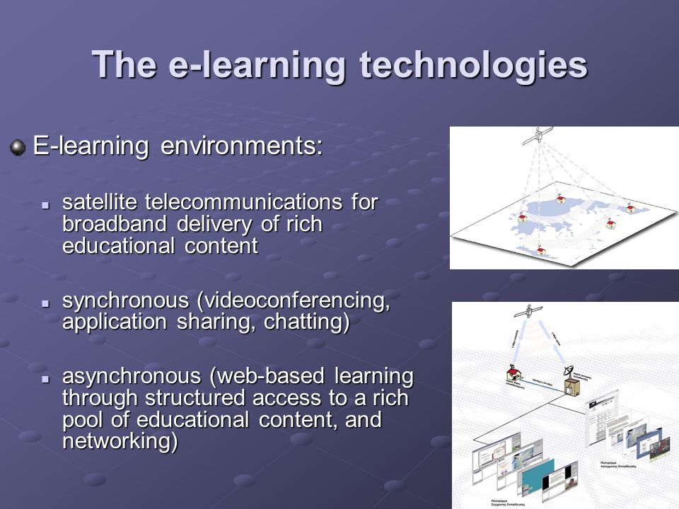 The e-learning technologies