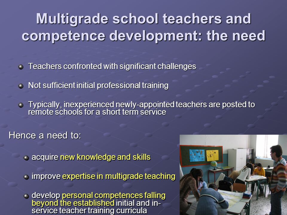 Multigrade school teachers and competence development: the need