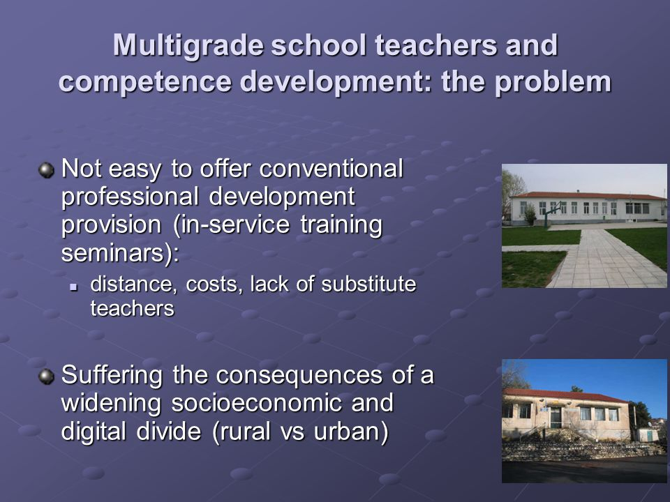 Multigrade school teachers and competence development: the problem