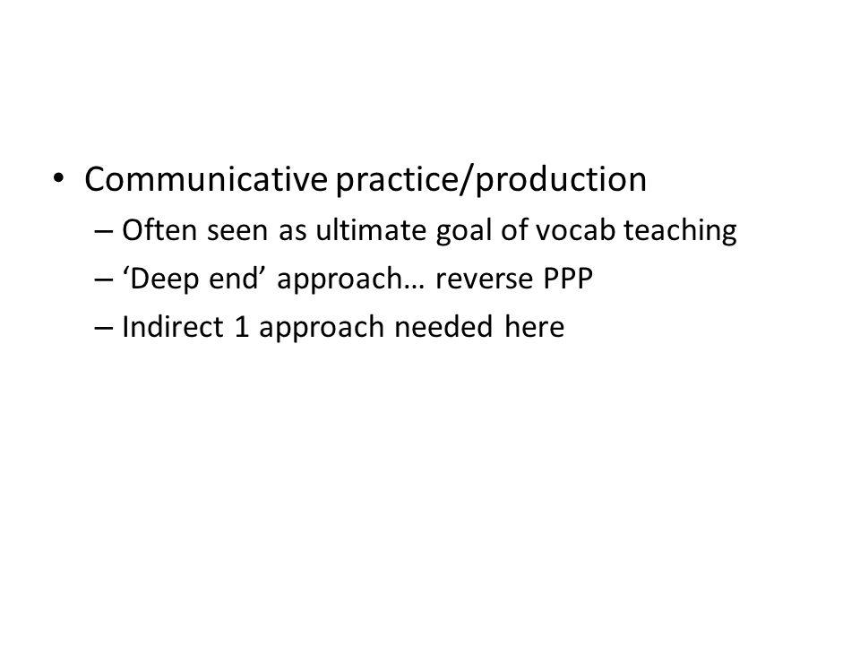Communicative practice/production