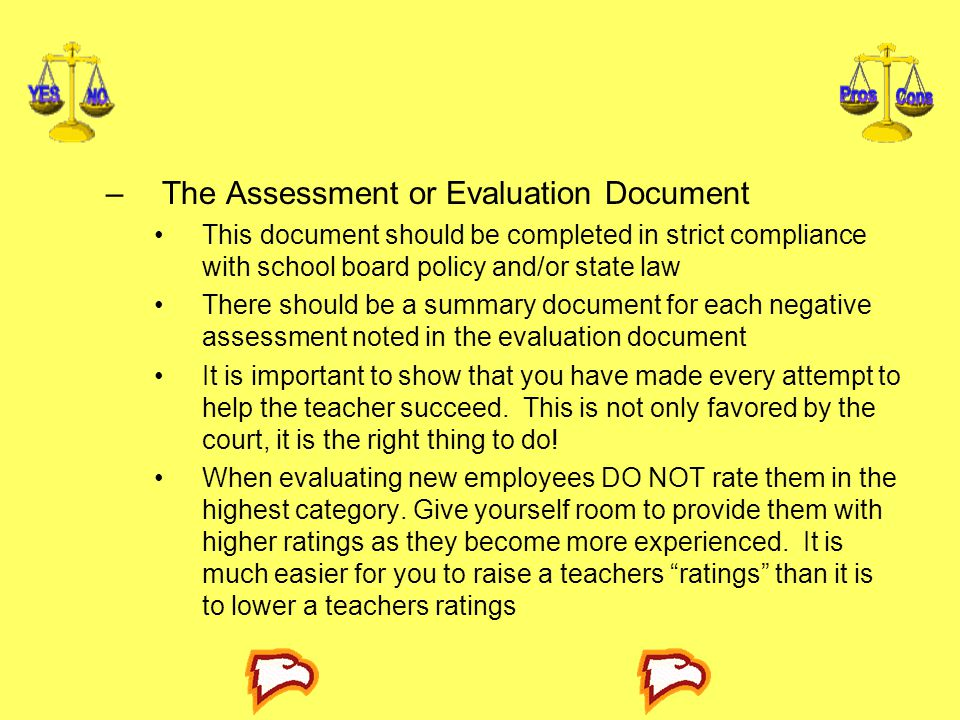 The Assessment or Evaluation Document
