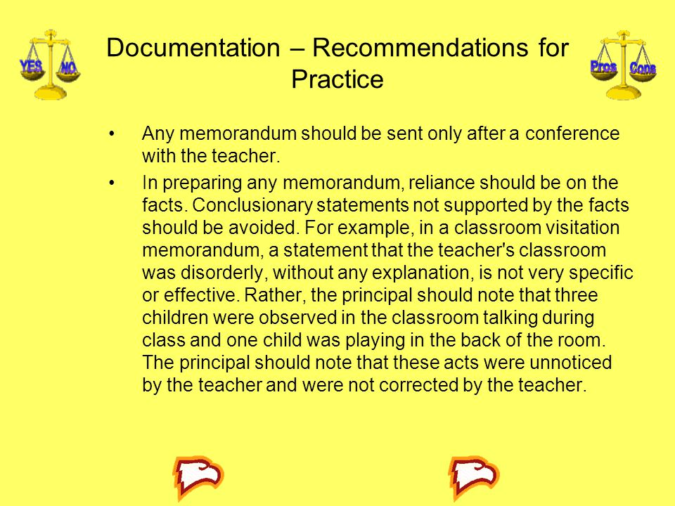 Documentation – Recommendations for Practice