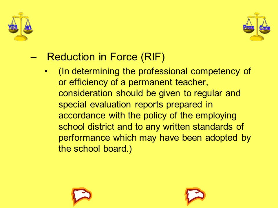 Reduction in Force (RIF)