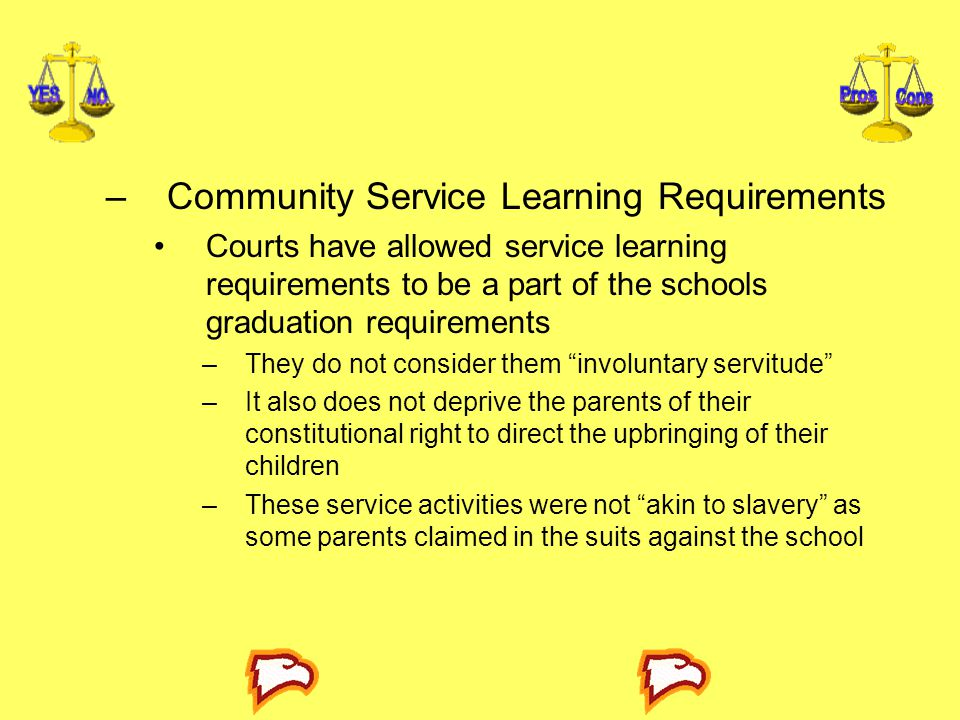 Community Service Learning Requirements