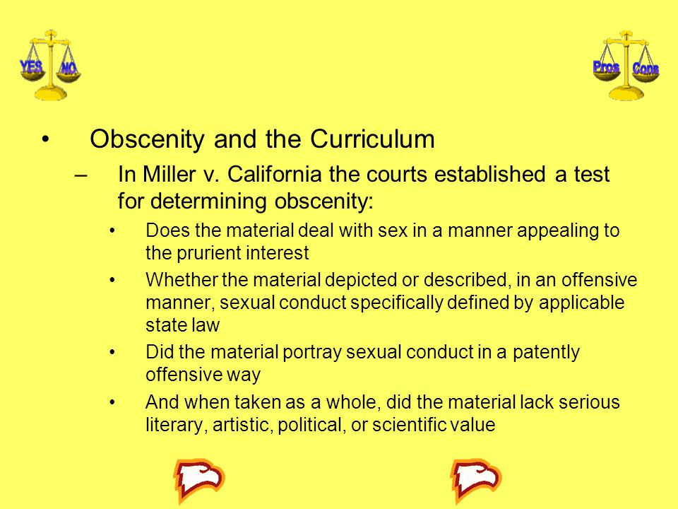 Obscenity and the Curriculum