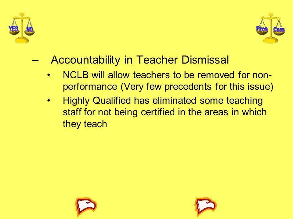 Accountability in Teacher Dismissal