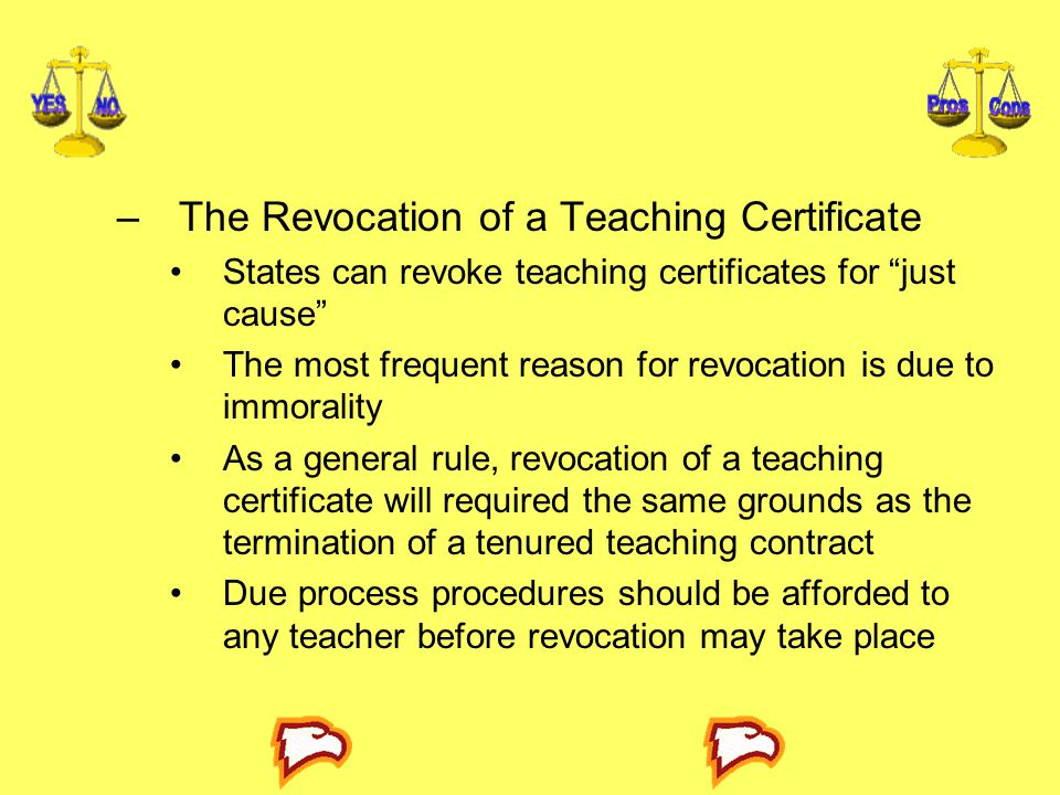 The Revocation of a Teaching Certificate