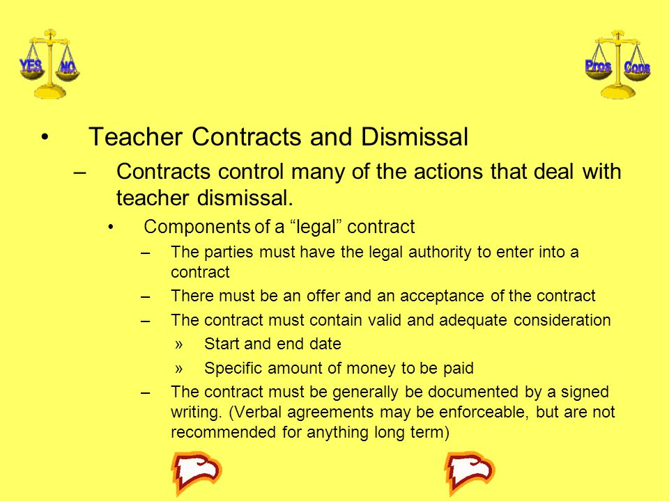 Teacher Contracts and Dismissal