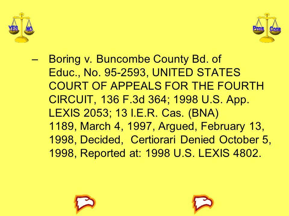 Boring v. Buncombe County Bd. of Educ. , No