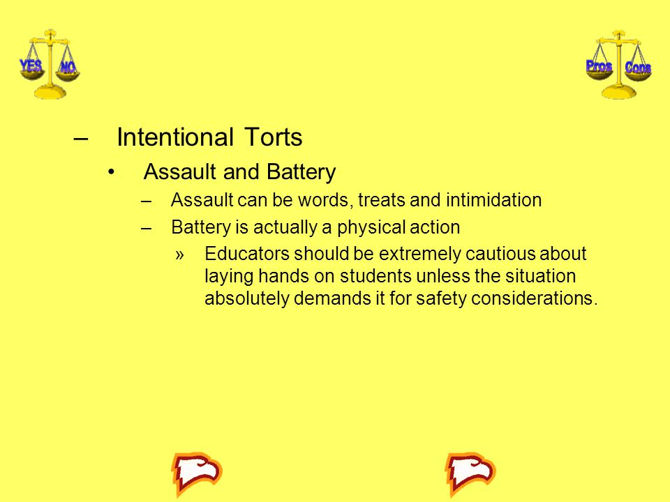 Intentional Torts Assault and Battery