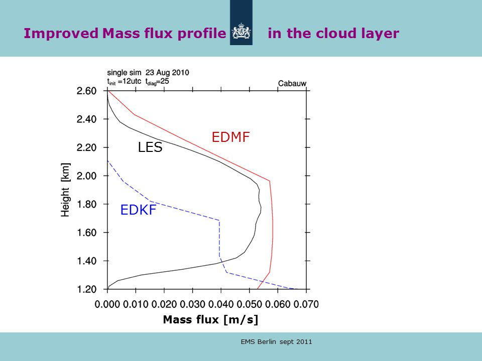 Improved Mass flux profile in the cloud layer