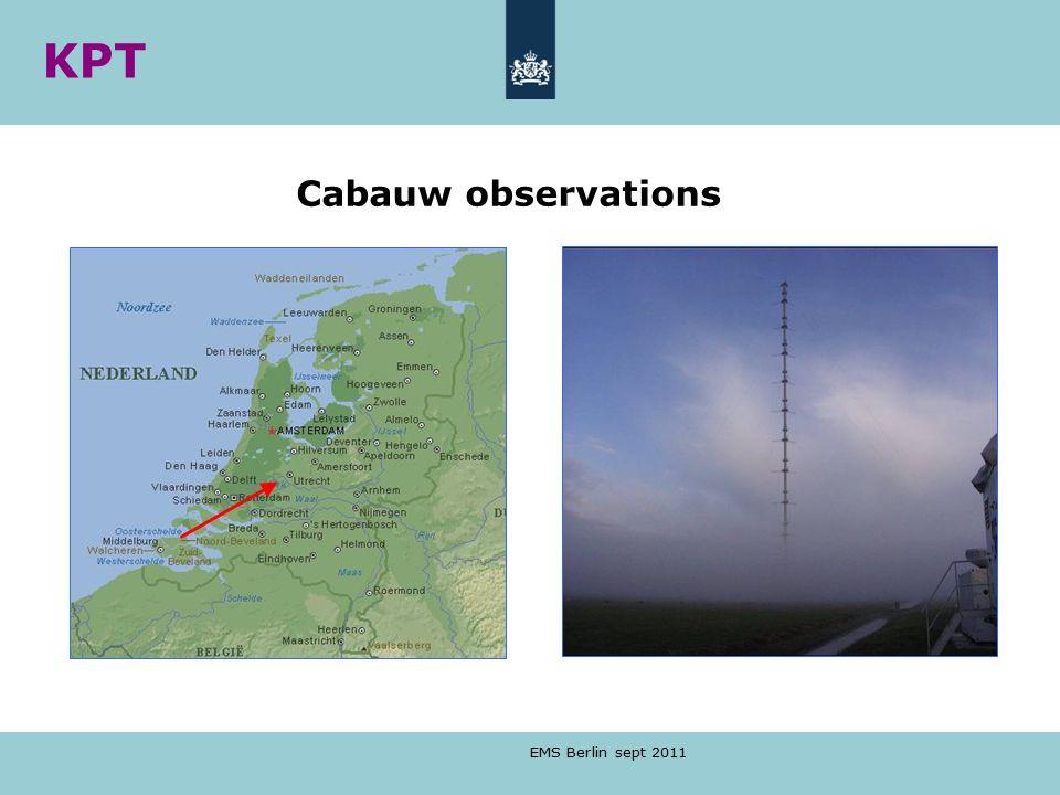 KPT Cabauw observations EMS Berlin sept 2011