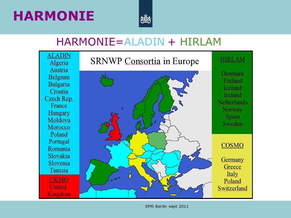 HARMONIE=ALADIN + HIRLAM