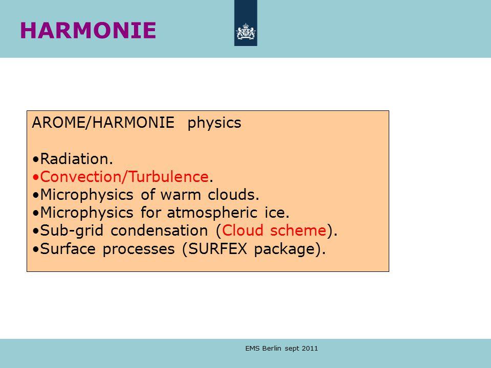 HARMONIE AROME/HARMONIE physics Radiation. Convection/Turbulence.