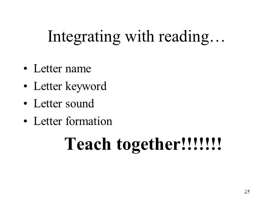 Integrating with reading…