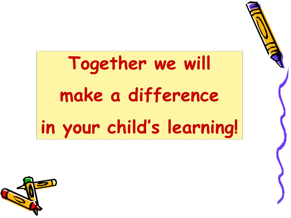 in your child's learning!