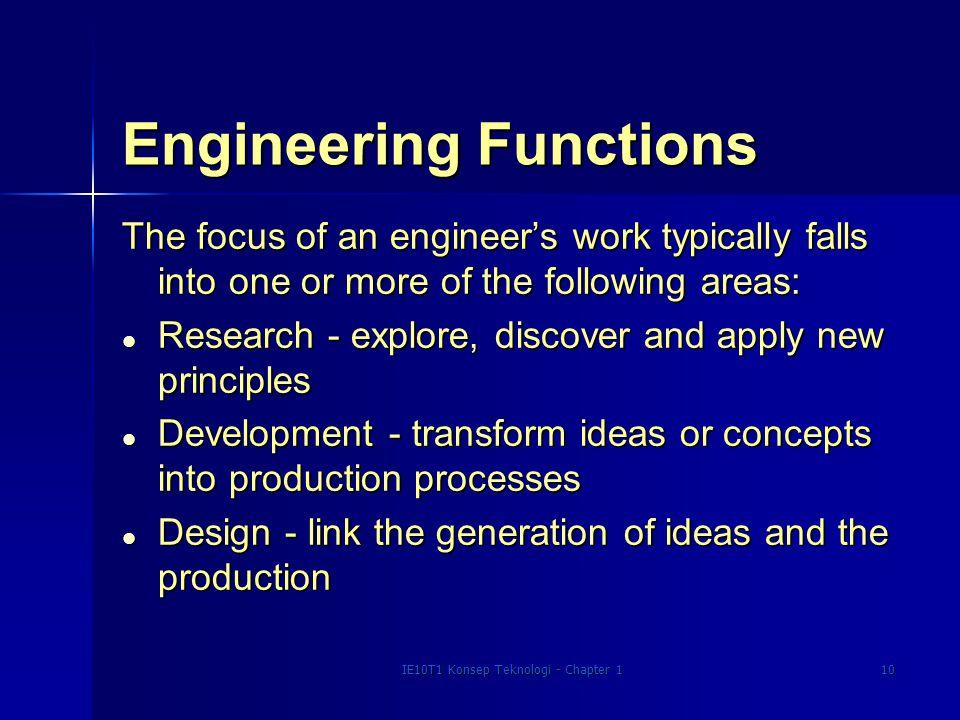 Engineering Functions