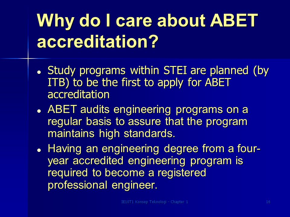 Why do I care about ABET accreditation