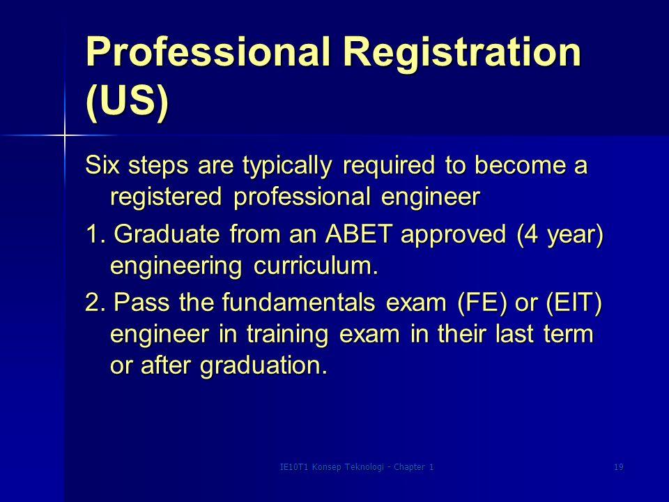 Professional Registration (US)
