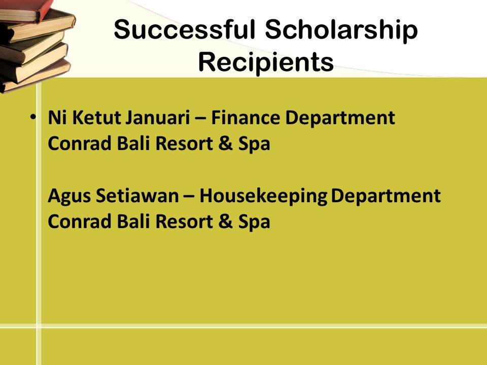 Successful Scholarship Recipients