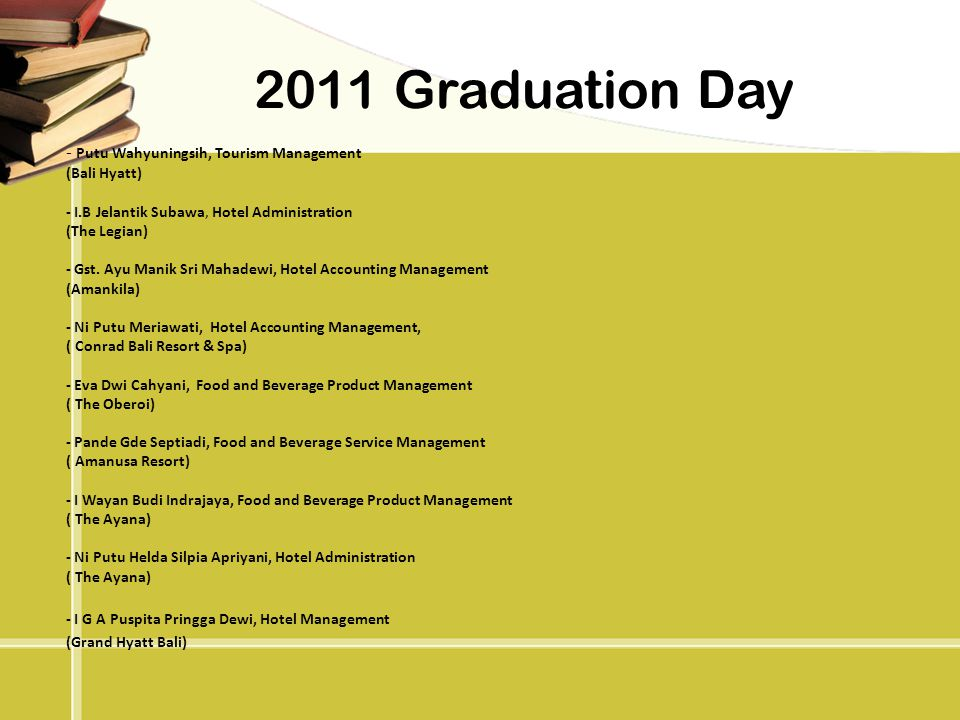 2011 Graduation Day