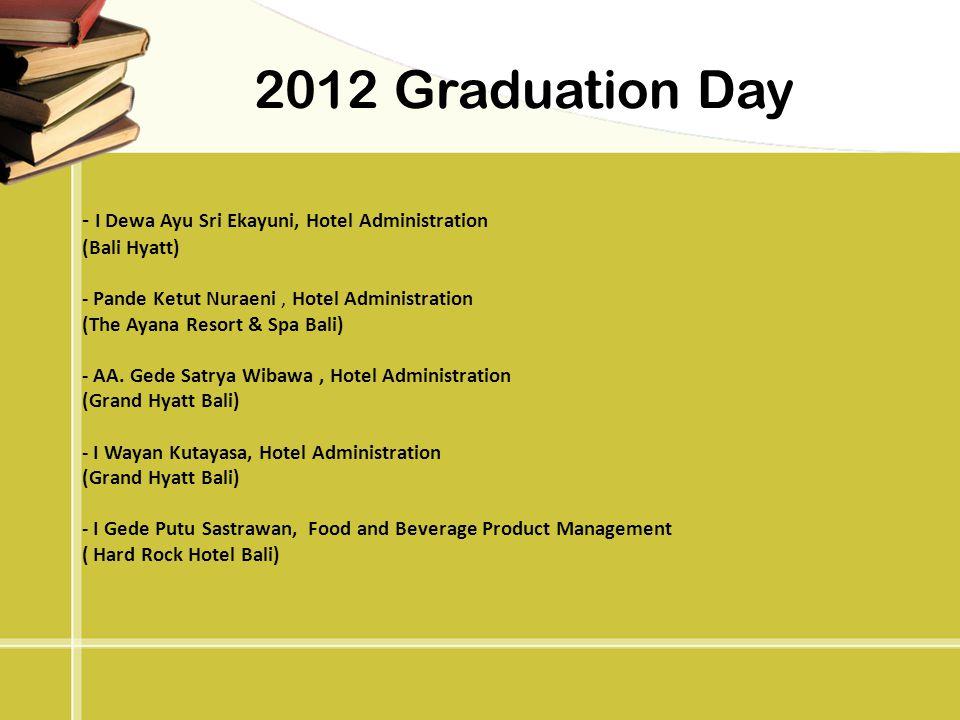 2012 Graduation Day