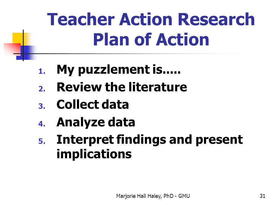 Teacher Action Research Plan of Action