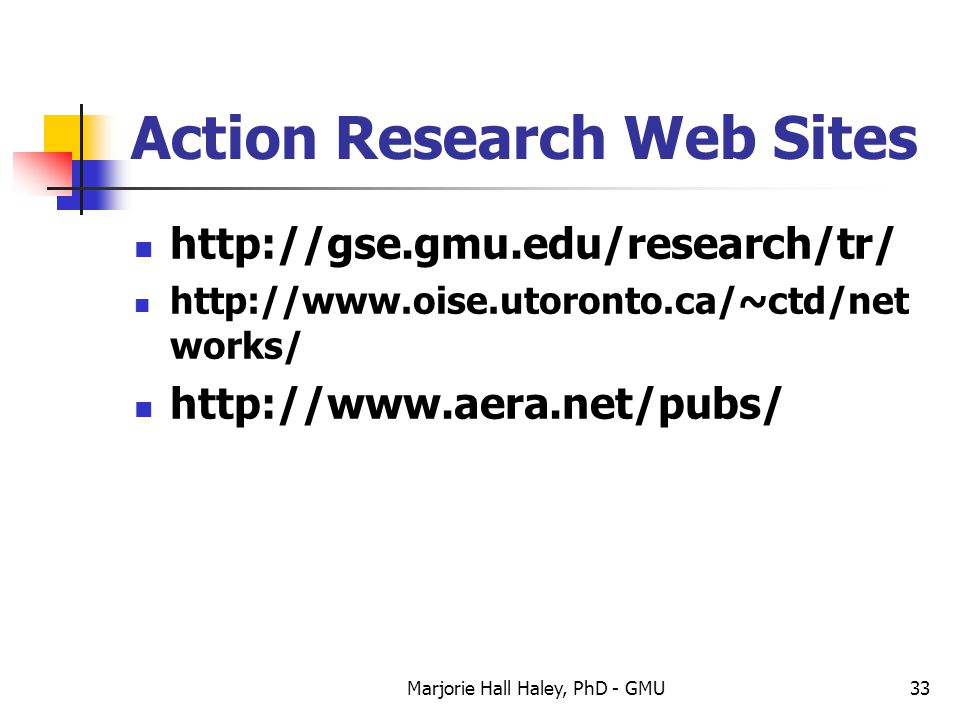 Action Research Web Sites