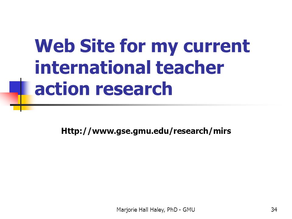 Web Site for my current international teacher action research