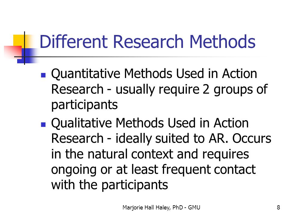 Different Research Methods